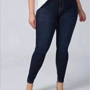Lane Bryant Dark Wash Tighter Tummy Skinny Jeans